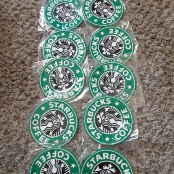 Set of 10 silicone Starbucks Coasters